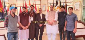 BJP Kargil unit meets Rajnath Singh and Dr. Jiten...