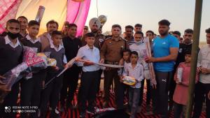 Additional SP Kathua distributes sports kits amon...