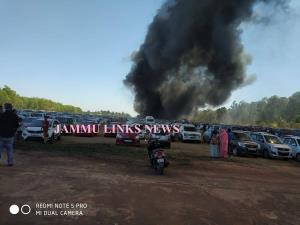 300 cars burnt in fire at Aero India 2019 in Beng...
