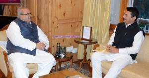 Ranbir Singh Pathania, MLA Ramnagar meets Governor