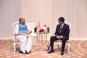Rajnath holds bilaterals with US, Japan on sideli...