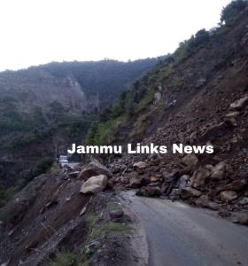 Batote-Doda highway closed due to landslide