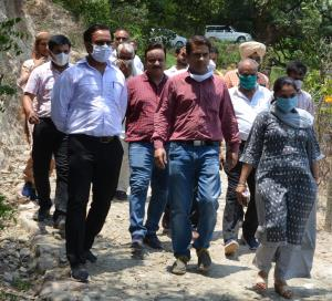 Director RDD Jammu inspects development works in ...