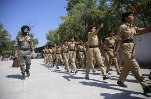 Group Commander NCC visits training camp