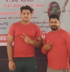 Samba boy Naman wins Silver in Weightlifting
