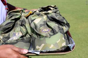 Team India flaunts Army camouflage caps, donates ...