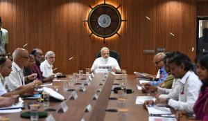 PM reviews flood situation in Kerala