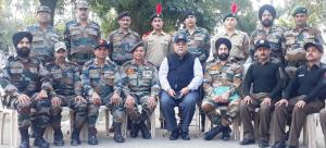 Brig Gupta visits NCC annual training camp at Nag...