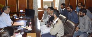 Advisor Ganai interacts with deputations, individ...