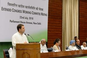 Rahul asks Congressmen to fight for India