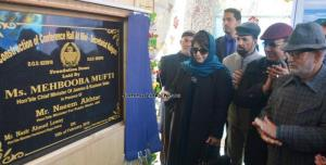 Mehbooba Mufti lays foundation of Rs. 28 cr Brazl...