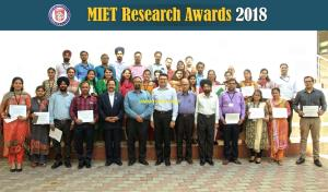 MIET organizes Research Awards 2018