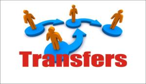Three under secretaries transferred