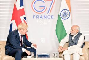 PM Modi meets Boris Johnson at G7, key meet with ...