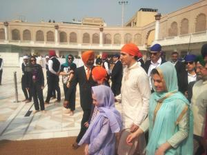 Canadian PM arrives at Amritsar