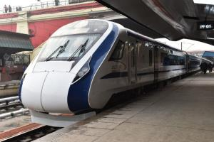 Day after break down, Vande Bharat Express begins...