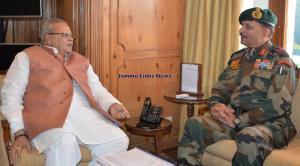 GOC 14 Corps briefs Governor