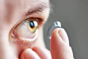 Eye infection in contact lens wearers can cause b...