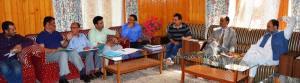 MLA Baramulla reviews progress of developmental w...
