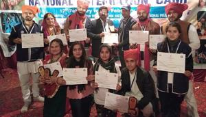 JU NSS team wins 5 prizes at National Integration...