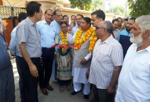 Sat Sharma kickstarts developmental works near Ka...