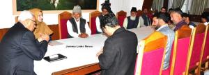 Delegation led by MLC Ganaie meets Governor