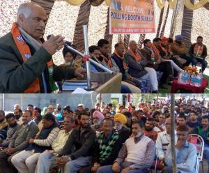 BJP holds Booth Sammelans at Chingus, Bhamag
