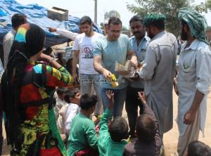 PDP leader distributes relief among Pak border fi...