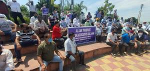 Private transporters go on hunger strike in Jammu...