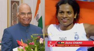 President Kovind congratulates Dutee Chand for wi...