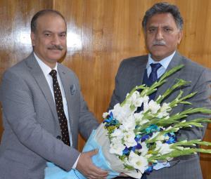 VC JU meets Advisor Ganai