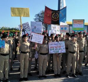 NCC holds Swachhta drive along river Tawi