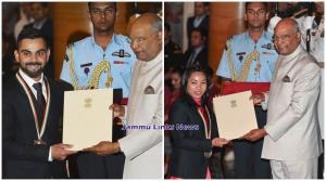 Virat Kohli, Mirabai Chanu conferred with Rajiv G...