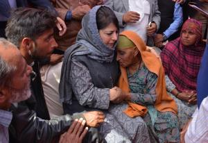 Mehbooba Mufti asks Modi to find peace for J&K