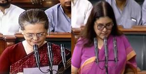 Sonia, Maneka Gandhi takes oath as Lok Sabha memb...