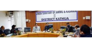 DDC Kathua reviews progress of RIDF projects