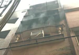 Fire breaks out again at same Anaj Mandi building...