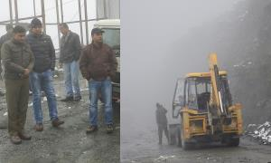 DC Ramban monitors road clearance operation, insp...