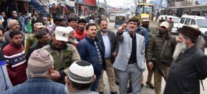 DDC Kishtwar inspects ongoing developmental works.