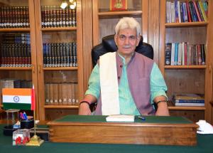 Lt Governor Sinha greets people on Independence D...