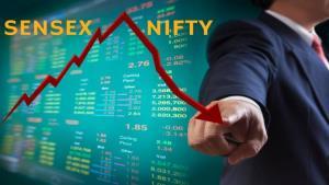 Sensex drops over 200 pts, Nifty below 11,550