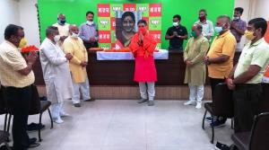 BJP pays tributes to Sushma Swaraj on her first d...