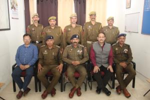 Pipping ceremony of newly promoted cops held at S...