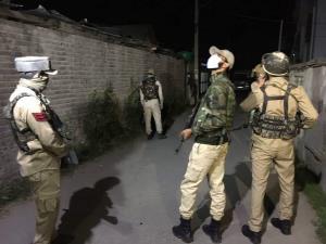 Encounter underway between security forces, terro...