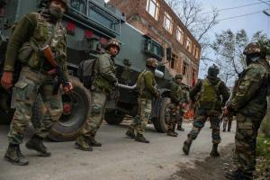 Encounter underway between terrorists and securit...
