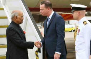 President Kovind reaches Australia