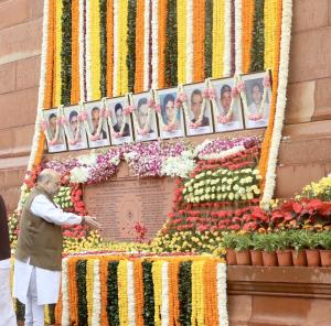 Amit Shah pays tributes to Parliament attack vict...