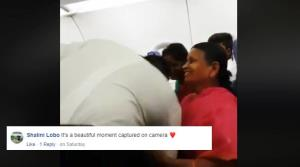 Pilot seeks blessings from his grandmother and mo...