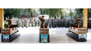 Army pays tribute to 3 soldiers martyred in 2 sep...
