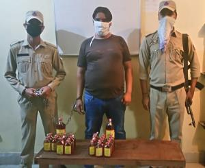 Bootlegger nabbed with liquor